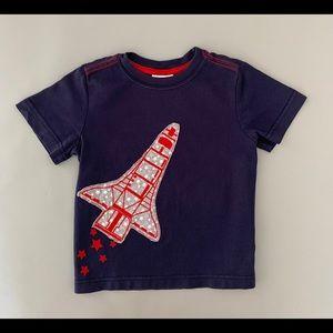 Hanna Anderson Space Shuttle Rocket & Stars Tee